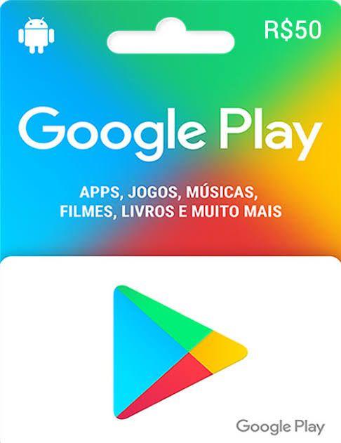 Cartão Presente Google Play R$ 50 Reais