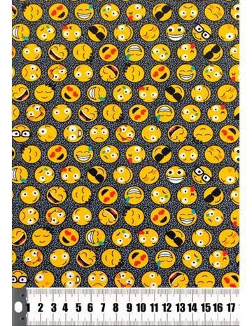 Tecido Círculo Emoji - 325252/1621- 0,50cmx1,46 Mts