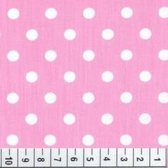Tecido Tricoline Poá Rosa com Bolas Brancas - 0,50cm