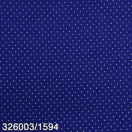 Tricoline 100% algodão Poá 1594 - AZUL com bolinhas brancas Circulo - 0,50cm