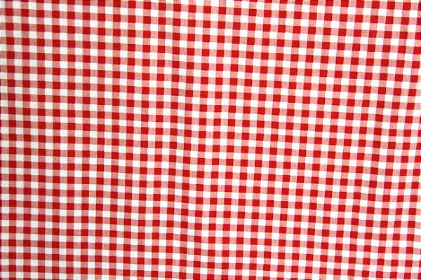 Tricoline 100% algodão - xadrez vermelho Circulo - 0,50cm