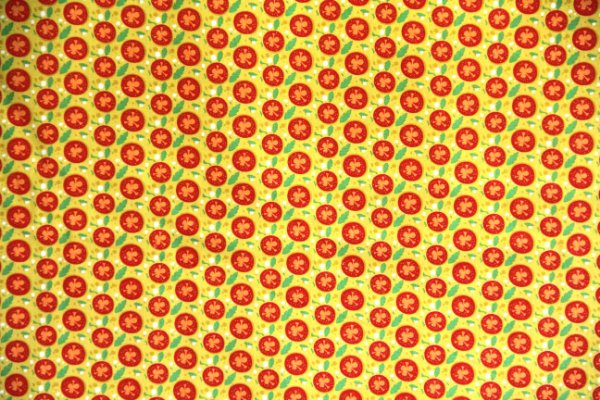 Tecido Círculo- pizza muçarela - 0,50cmx1,46 Mts