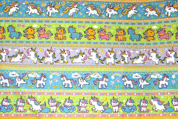 Tecido Círculo Ref 351997 Cor 2066- Unicornio - 0,50cmx1,46 Mts