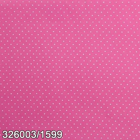 Tecido Círculo Poá Rosa e branco - 1599 - 0,50cmx1,46 Mts