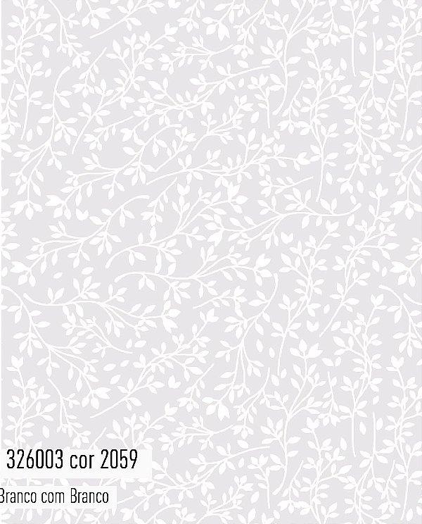 Tecido Tricoline Círculo Arabesco Branco - 2059 - 0,50cmx1,46 Mts