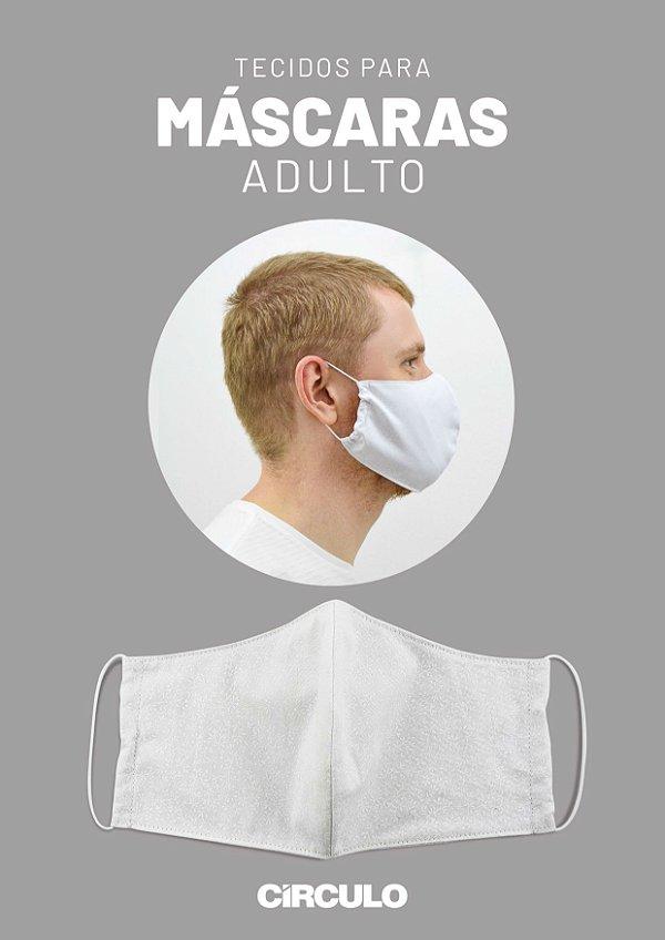 Tecido Tricoline para Máscaras Arabescos Círculo - 2337 - 62cmx147cm