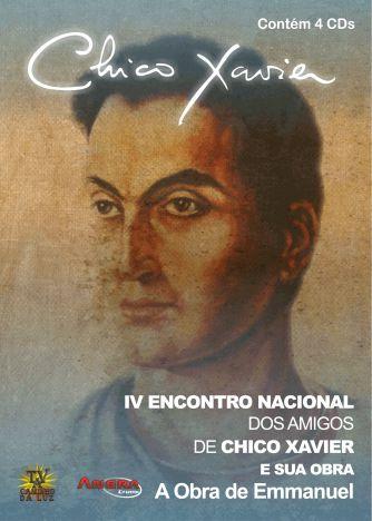 """BOX - 4º Encontro Nacional dos Amigos de Chico Xavier - Vários Palestrantes 4 DVD's +4 CD""""s"""