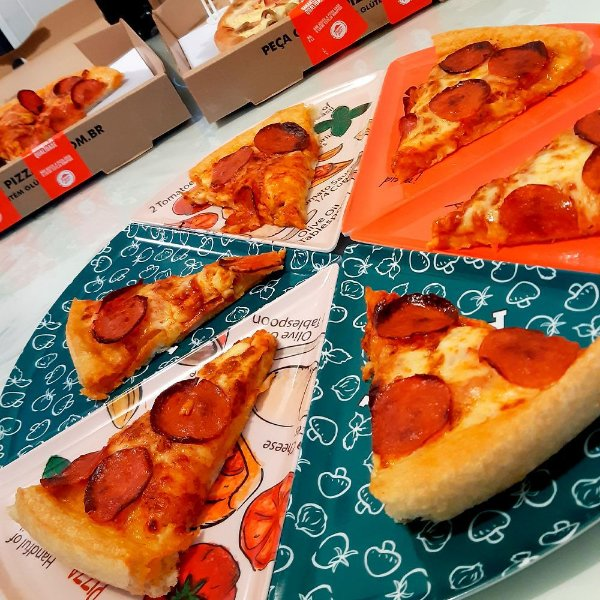 Pratos de  Pizza