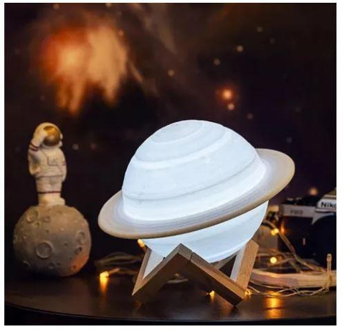Luminária e Umidificador Planeta Saturno