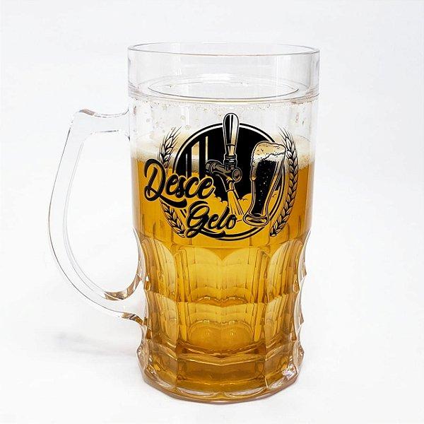 Caneca de Chopp P/ Manter a Cerveja Gelada 630ML