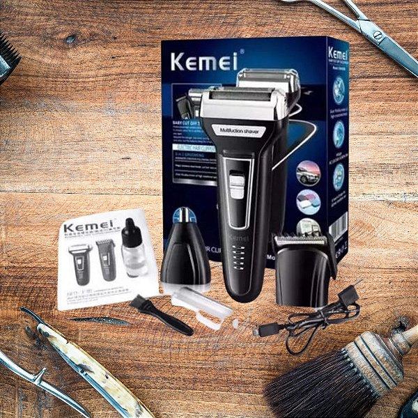 Máquina De Corte Kemei Shaver  3 Em 1