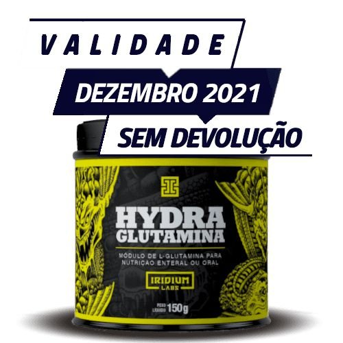 HYDRA GLUTAMINA - Iridium Labs | 150 gramas - PONTA DE ESTOQUE