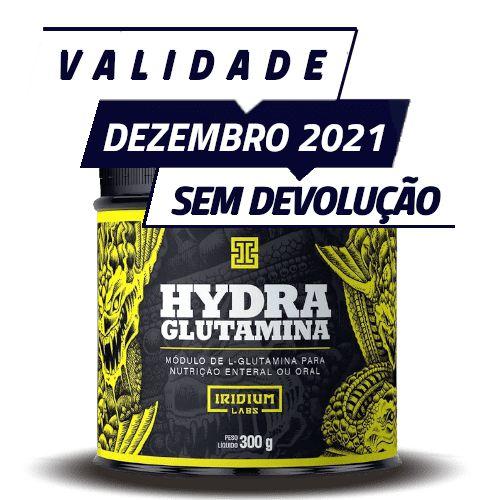 HYDRA GLUTAMINA - Iridium Labs | 300 gramas - PONTA DE ESTOQUE