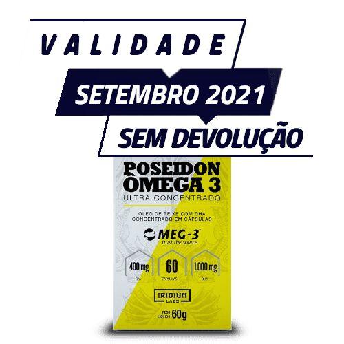 POSEIDON ÔMEGA 3 ULTRA CONCENTRADO - Iridium Labs | 60 cápsulas - PONTA DE ESTOQUE