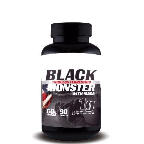 TRIBULUS TERRESTRIS BLACK MONSTER WITH MACA 1g - Super Nutrition Supplements | 90 cápsulas