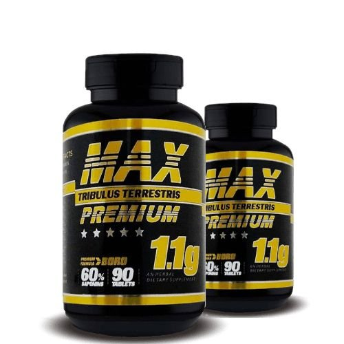 KIT 2 TRIBULUS TERRESTRIS MAX PREMIUM 1.1g - Super Nutrition Supplements | 2x 90 cápsulas