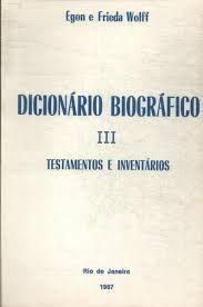 Dicionário Biográfico Vol III