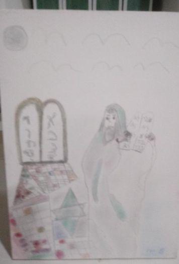 Quadro de parede Moisés e os mandamentos - Myrian Butter