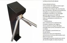 Catraca Semi Eletrônica De Braço Para Acesso Com Contador