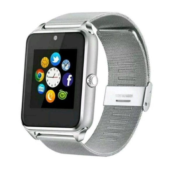 c10121cb3a2 Relógio Smartwatch Z60 Celular Inteligente Touch Bluetooth Chip Ligações  SMS Pedômetro Câmera - PRATA