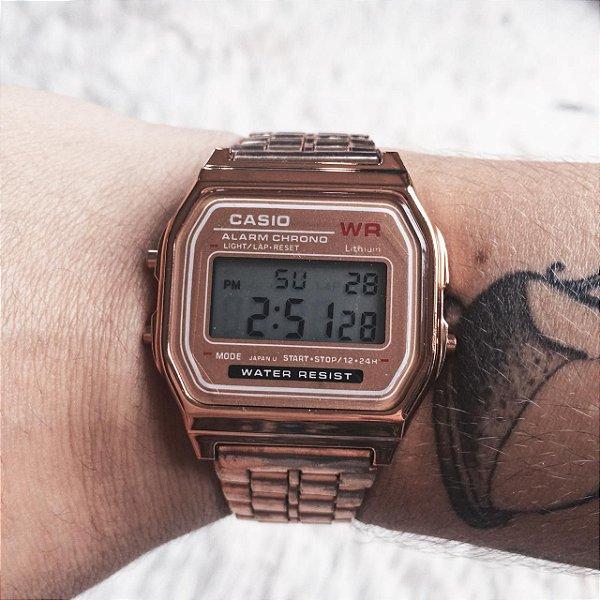 Relógio vintage rosê