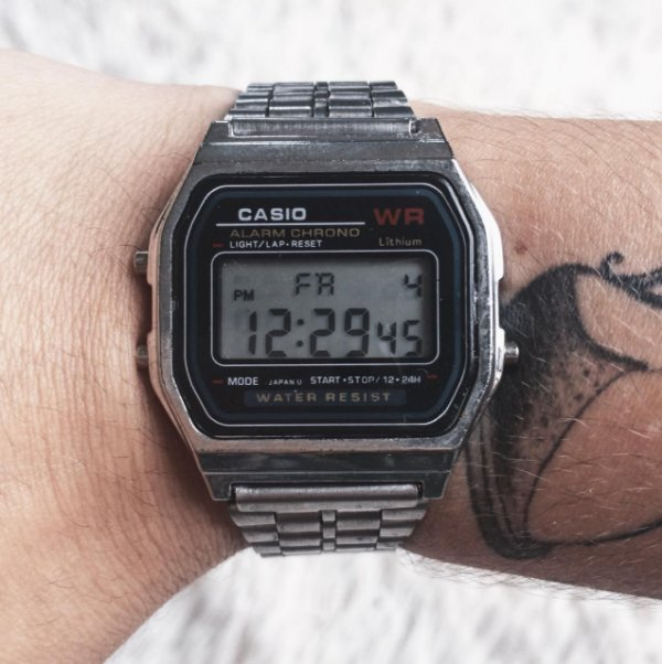 Relógio vintage prata