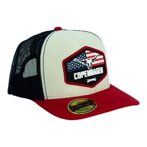 Boné Copenhagen Longhorn Red US Flag