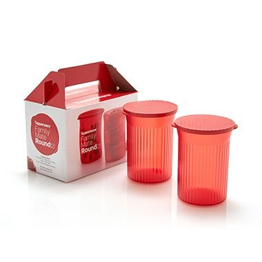 TUPPERWARE TUPPER SNACK FAMILY MATE ROUND 800ML  2 PEÇAS