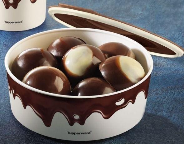 Tupperware Baseline Redondo Chocolate 1,5 litro