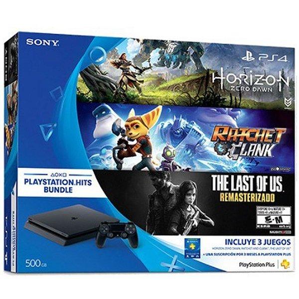 PlayStation 4 Slim 500GB com 3 jogos