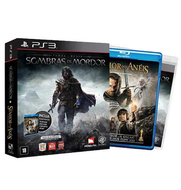 Terra Media - Sombras de Mordor (Dublado) + Filme - PlayStation 3