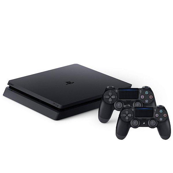 Combo PlayStation 4 Slim 1TB com 2 controles