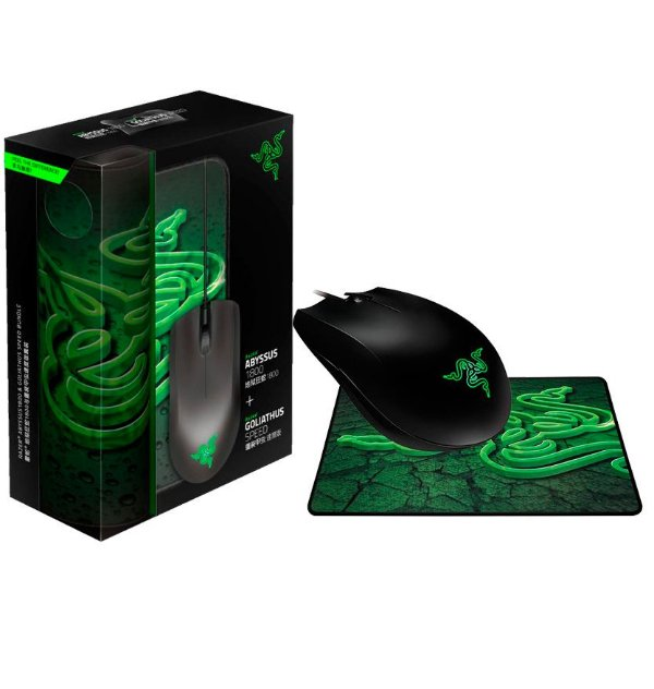 Mouse Razer Abyssus 1800DPI + Mouse Pad Speed - PC
