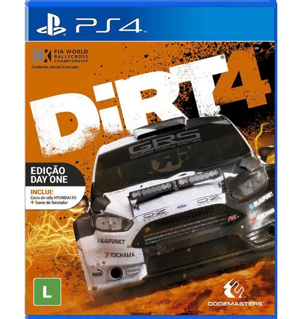 Dirt 4 - Edição Day One -  PlayStation 4