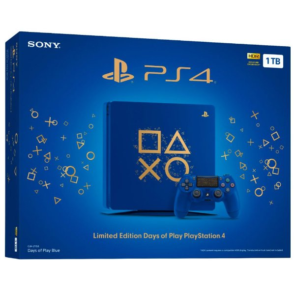 PlayStation 4 Slim 1TB Limited Edition Days of Play (Pré-Reserva)