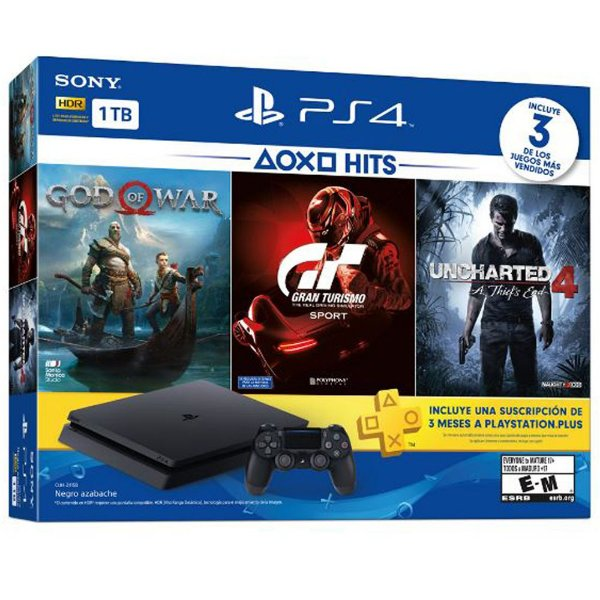 PlayStation 4 Slim 1TB com 3 jogos