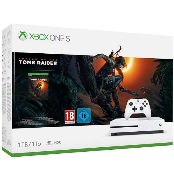 Xbox One S 1tb Bundle Shadow of the Tomb Raider
