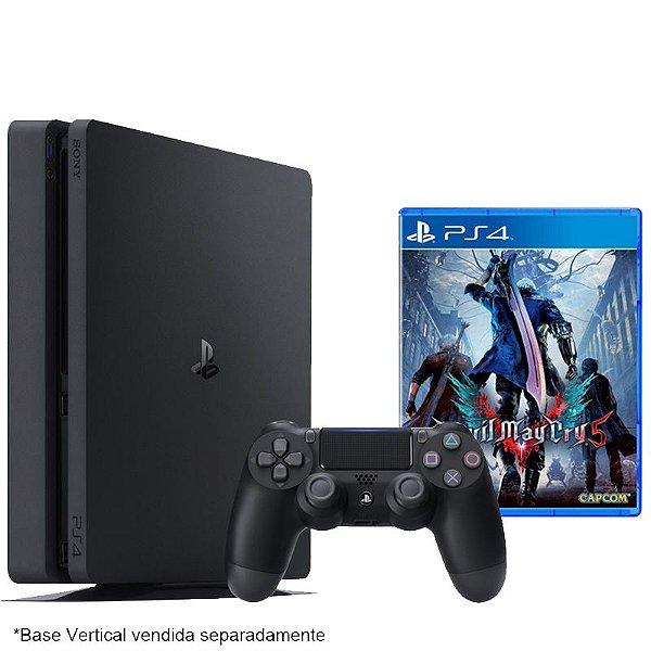 PlayStation 4 Slim 500 GB com jogo Devil May Cry 5