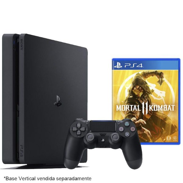 PlayStation 4 Slim 500 GB com jogo Mortal Kombat 11