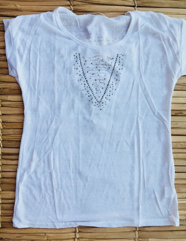 Blusinha Com Apliques Party - White
