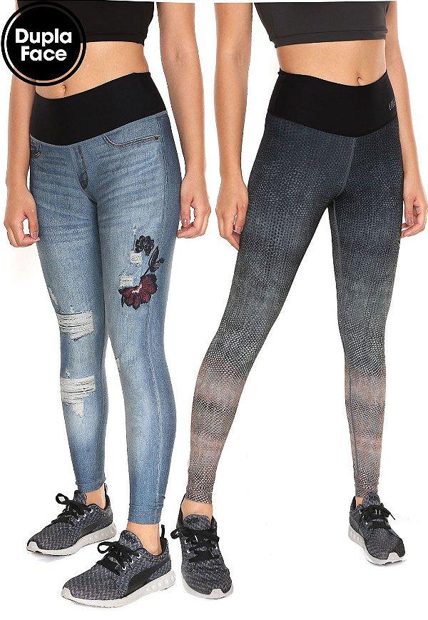 Legging Reversible Flower Jeans