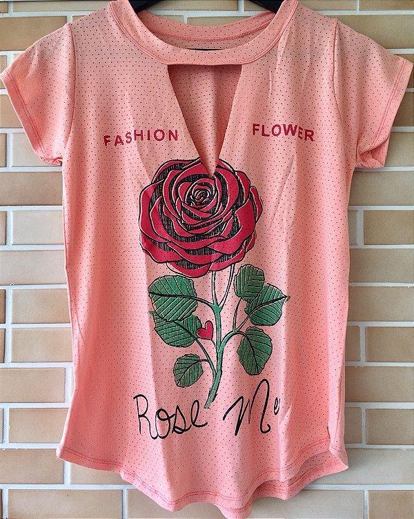 Blusinha Rose - Coral