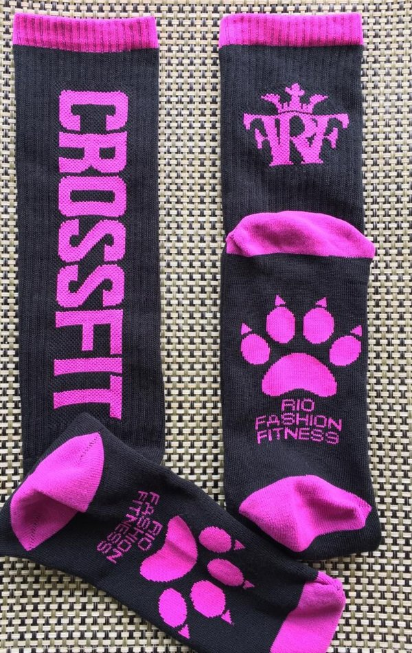 Meião Crossfit Wod - Power Pink
