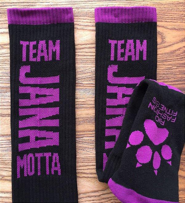 Meião Crossfit Team Jana - Black & Purple