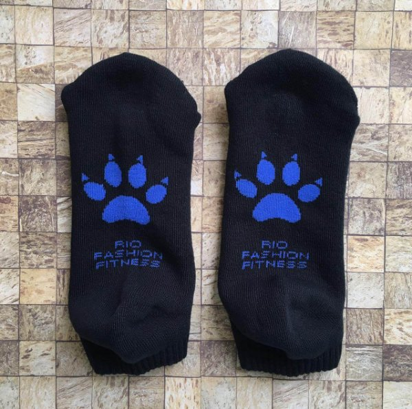 Meia Soquete Patitas - Black & Royal