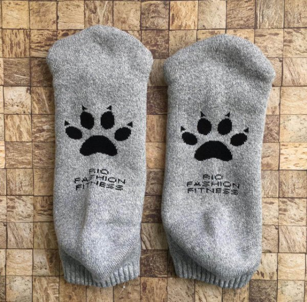 Meia Soquete Patitas - Grey & Black