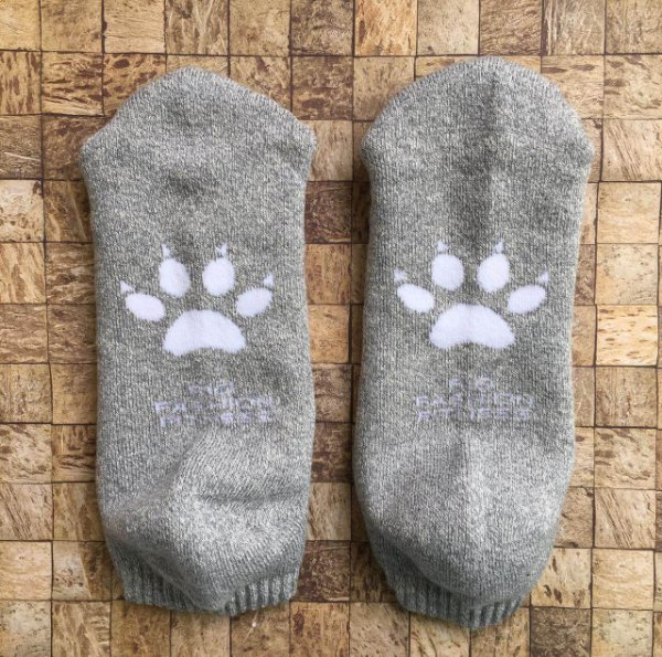 Meia Soquete Patitas - Grey & White