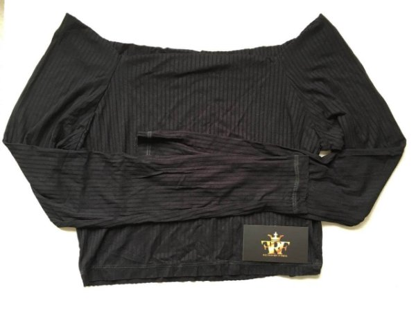 Cropped Canelado - Black