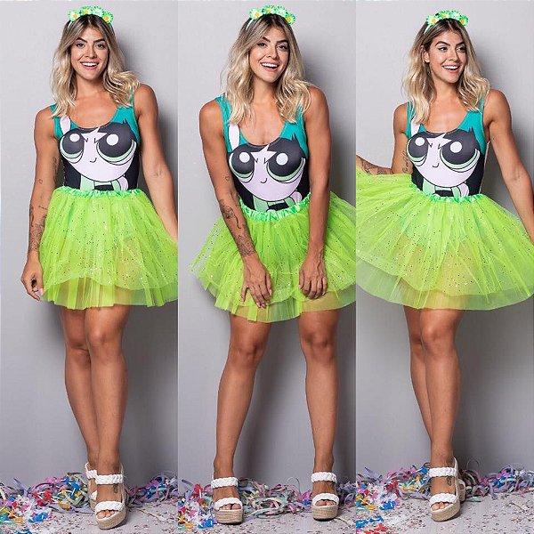 Body Meninas Super Poderosas - Verde