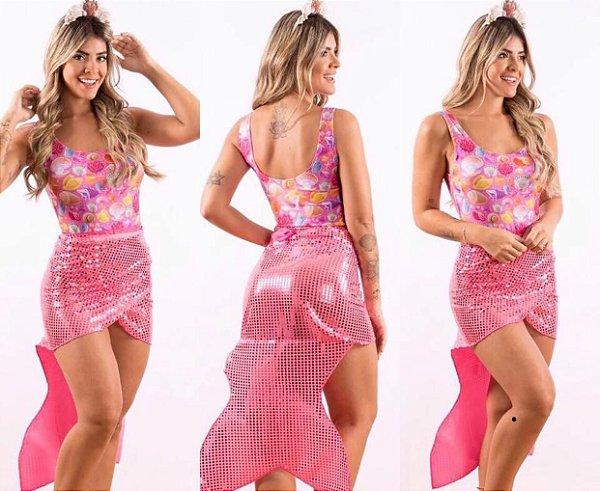 Rabo de Sereira Carnaval - Pink